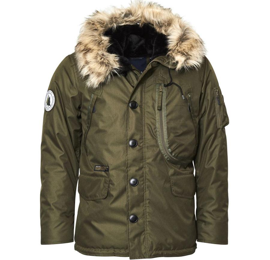 zielona kurtka zimowa męska duża